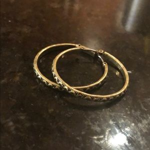 Club Monaco Bronze Hoops